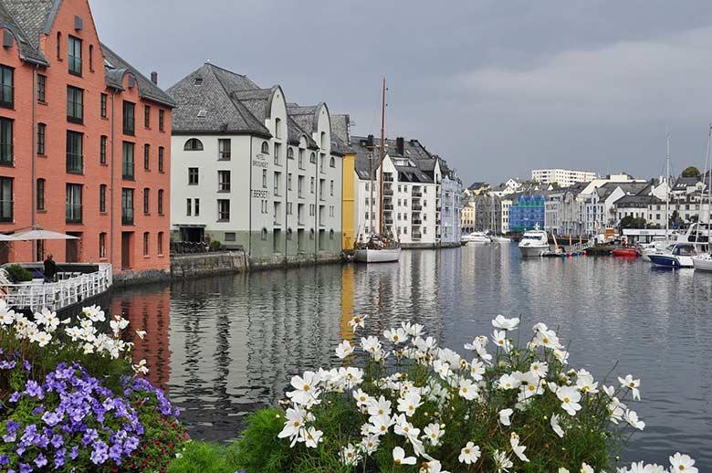 Город Берген Норвегия