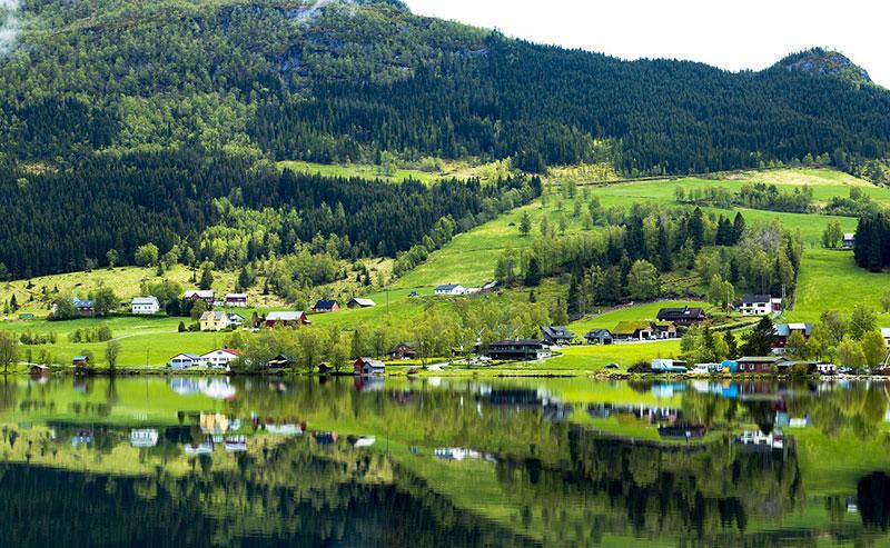 Норвегия летом