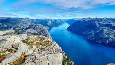 С кем граничит Норвегия