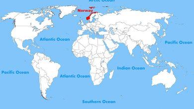 Географическое положение Норвегии