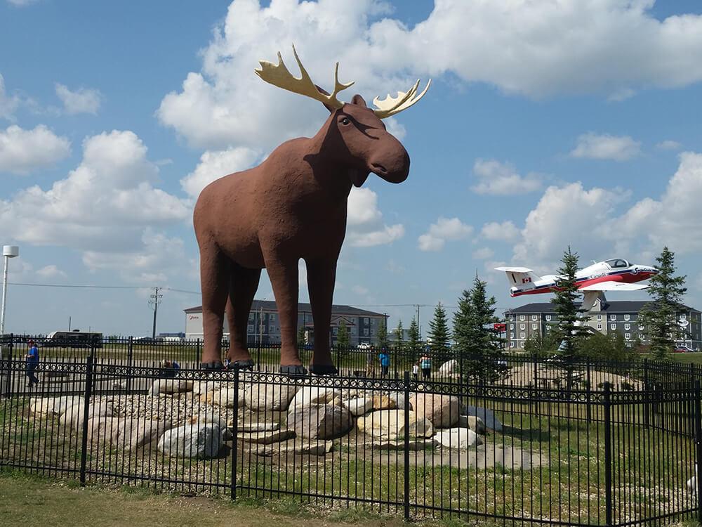 Статуя лося в Канаде