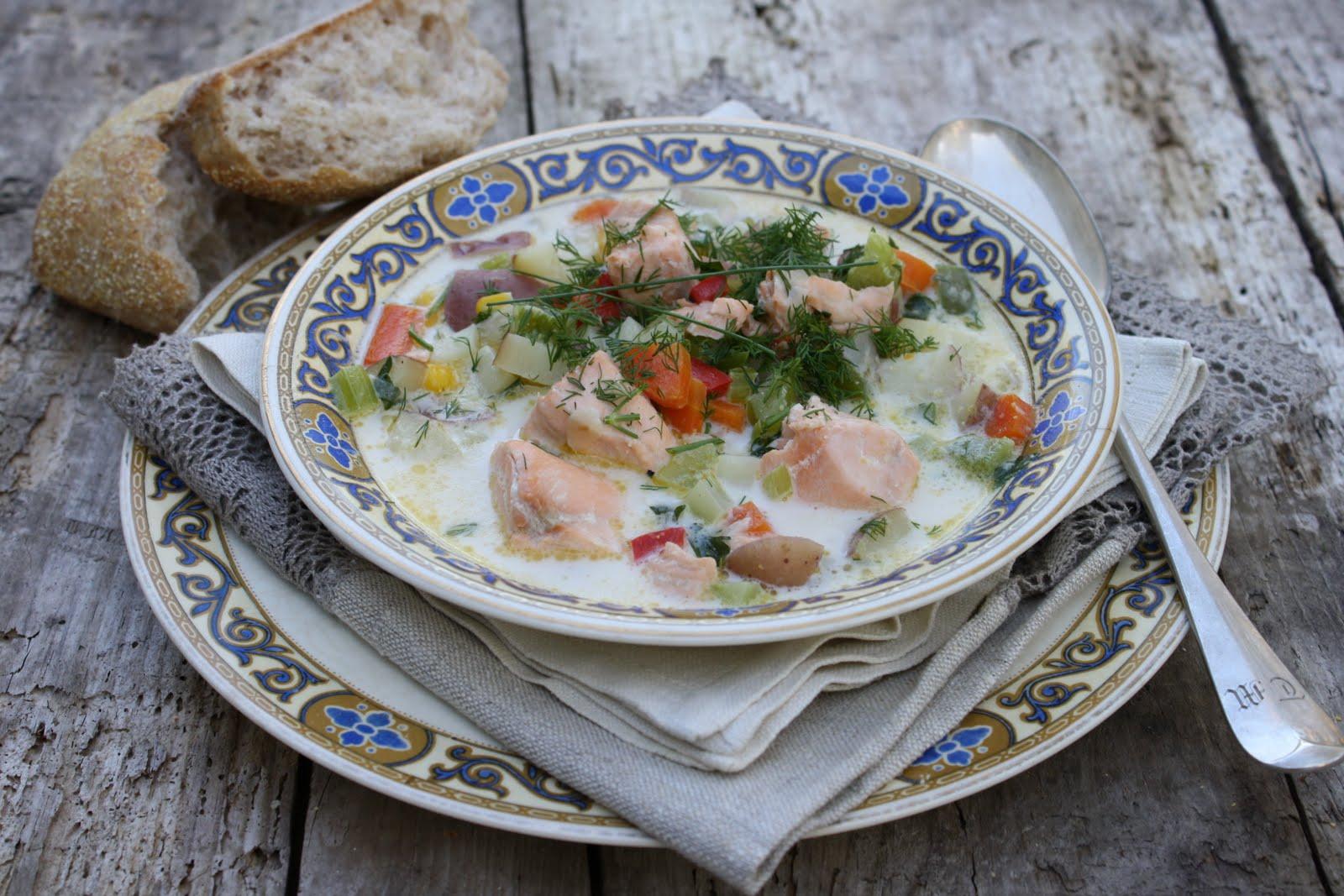 Суп из сёмги со сливками рецепт